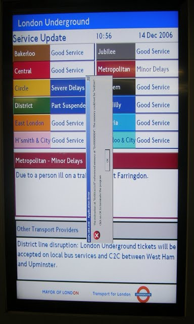 London Underground error