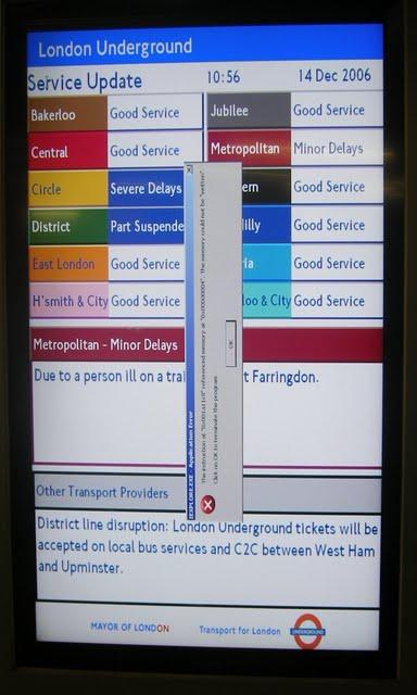 London Underground error